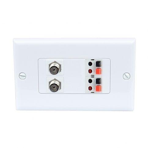 Home Improvement 2 Port Coax Cable Tv F Type 1 Port Cat6 Ethernet 1 Port Speaker Wall Plates Plates On Wall Home Improvement Wall