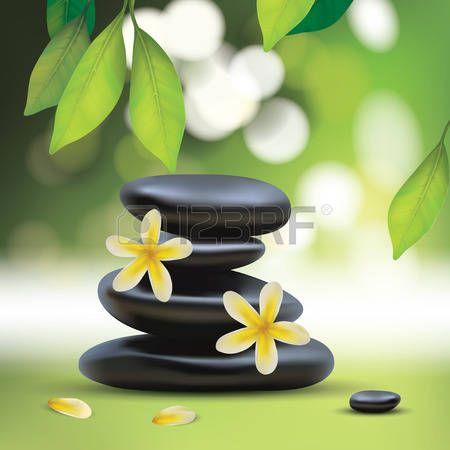 resultado de imagen de composiciones florales piedras zen - Piedras Zen
