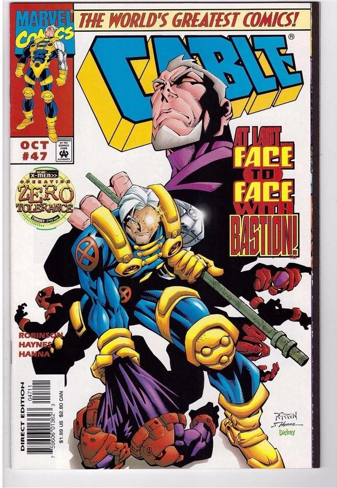 Cable 47 Oct 1997 Marvel Comic Book X Men Bastion Moving Target Zero Tolerance Comics Comic Books Dc Superheroes