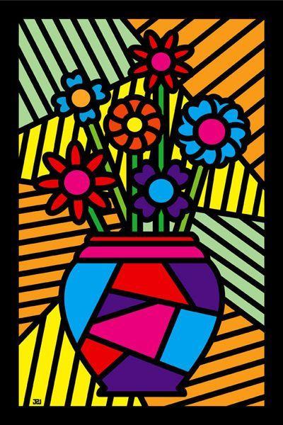 Lecture d 39 un message mail orange arts plastiques cole art plastique art et peinture - Coloriage fleur britto ...