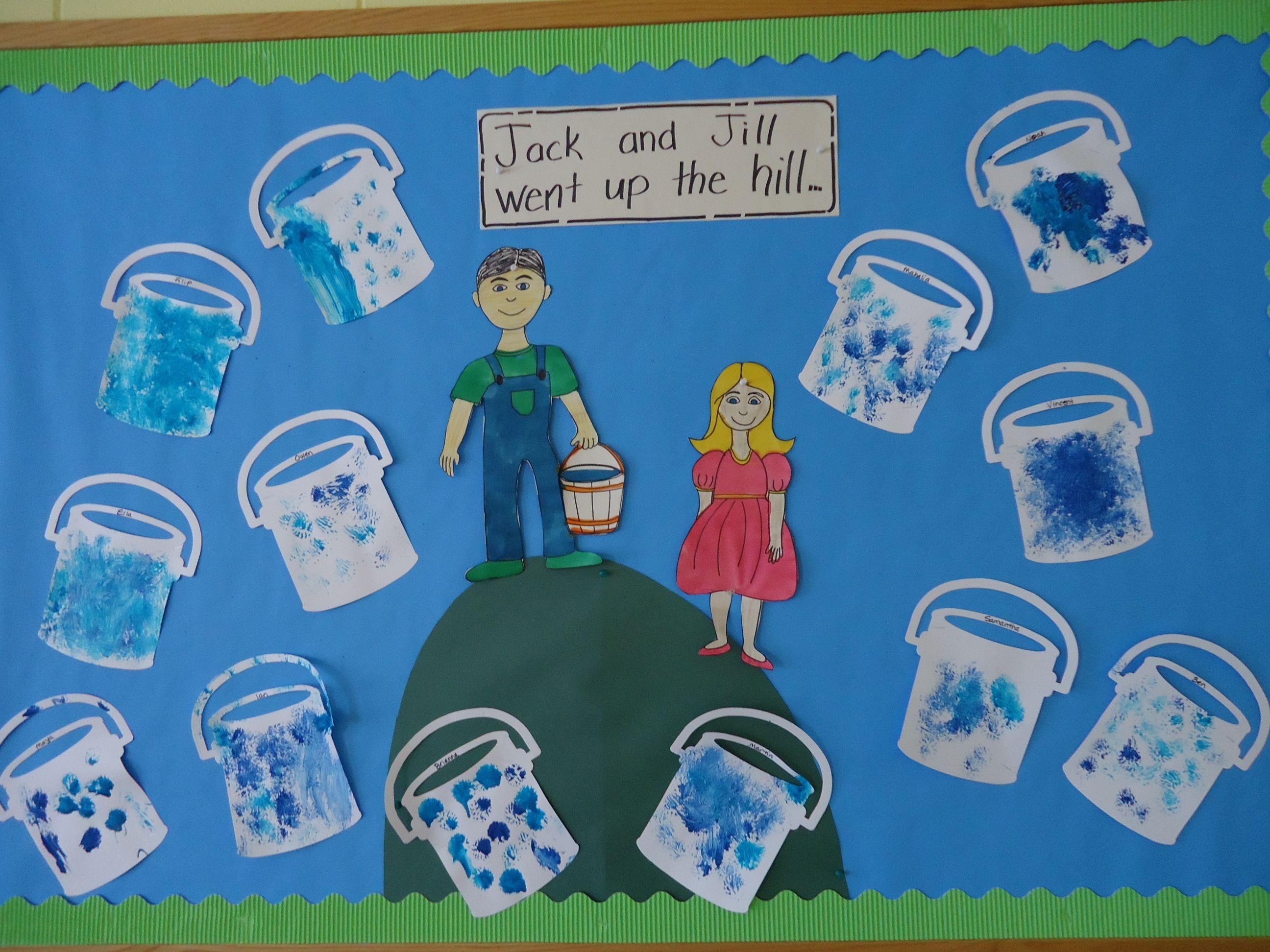 Nursery Rhyme Unit Jack And Jill Bulletin Board