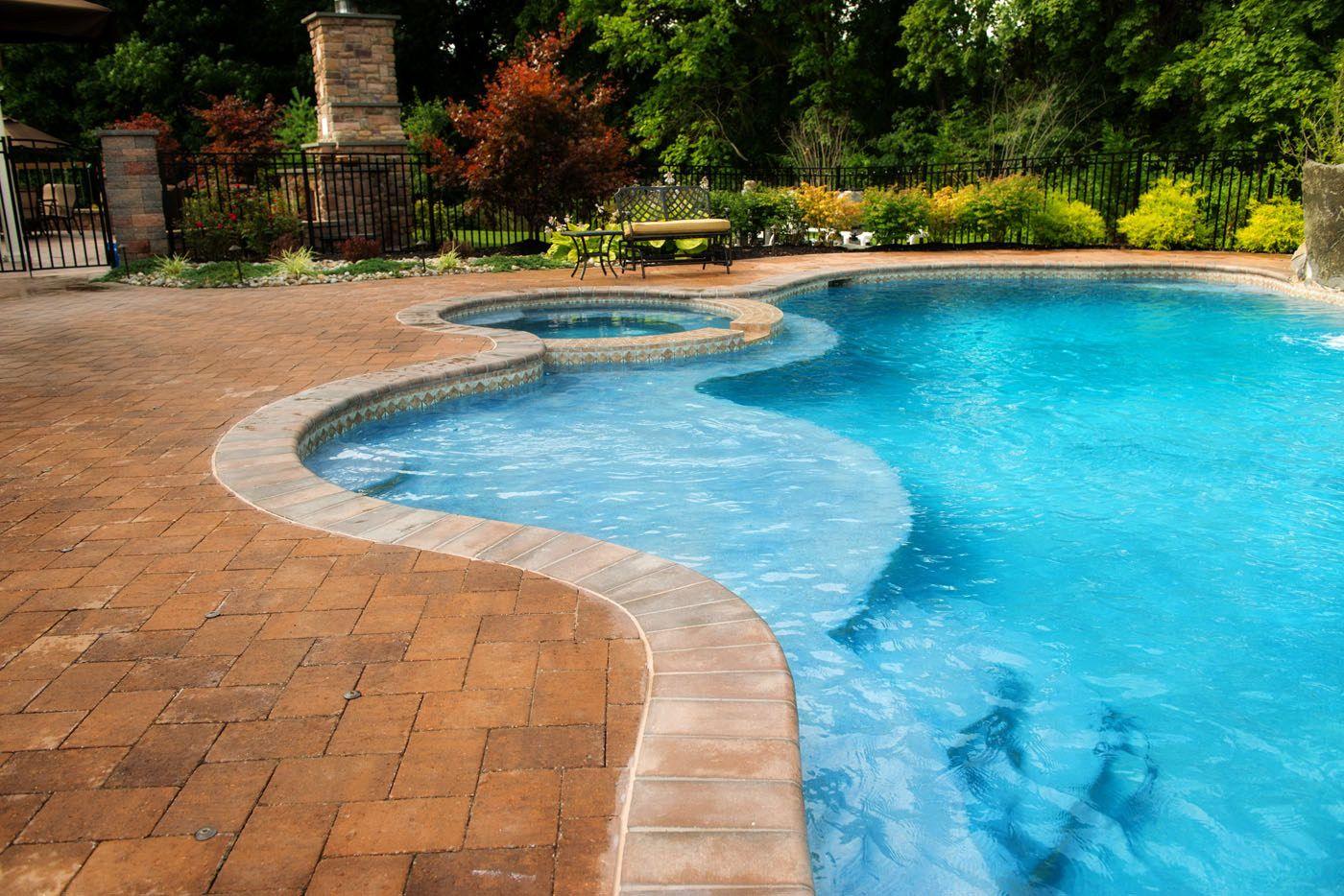 Concrete Freeform Pool with Raised Spa | Dream Home: Pools ...