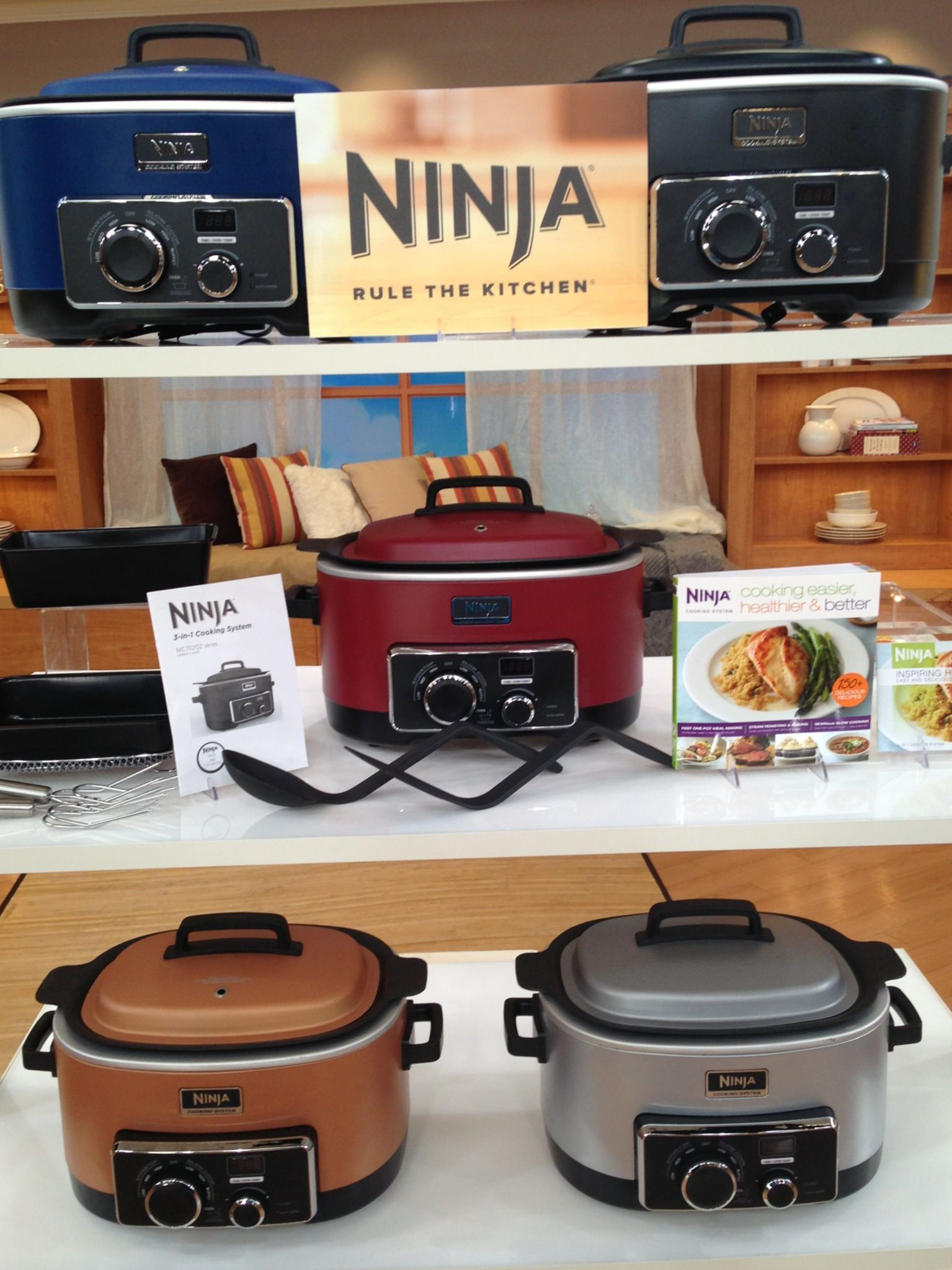 Ninja 3-in-1 6 qt. Nonstick Cooking System with Cookbook ...