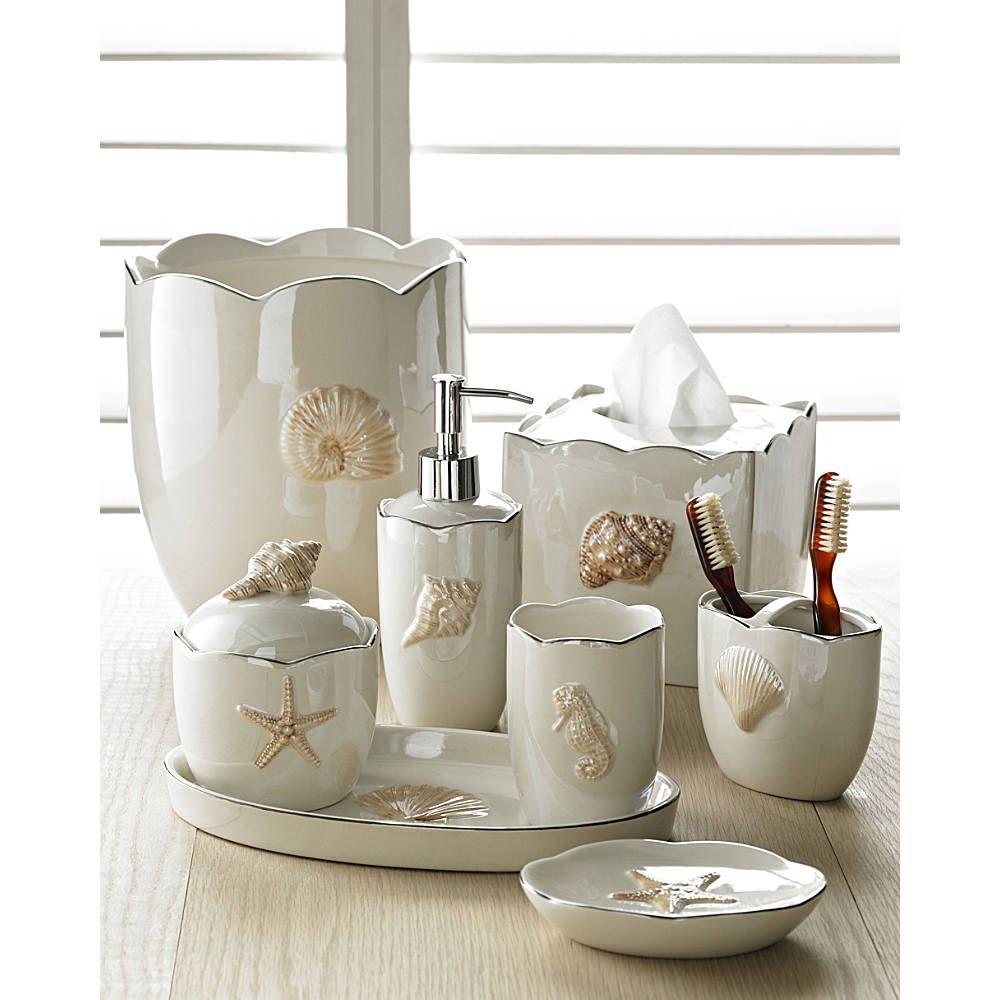 Create your coastal getaway with Mare Shells accessories. Bathroom  SetsBathroom ...