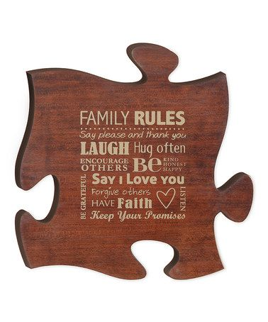 Look What I Found On Zulily Cherry Family Puzzle Piece