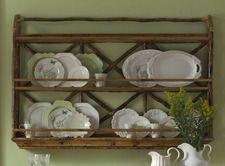 Bamboo Wall Display/Plate Rack
