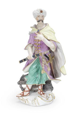 A Meissen figure of Cyrus emblematic of Persia, circa 1755
