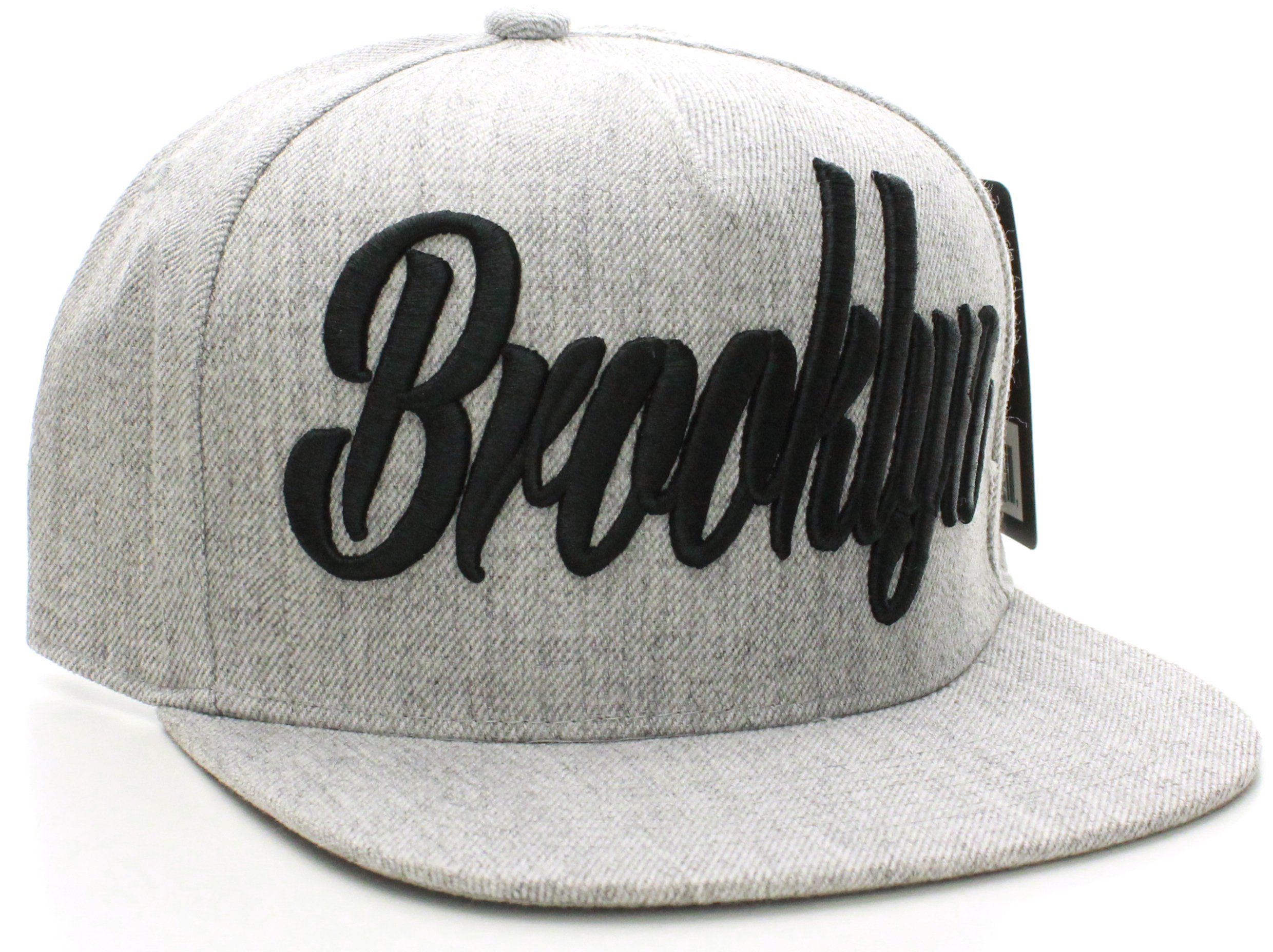 53210716b Absolute Snapback Brooklyn Script Flat Bill Snap Back Cap Hat ...