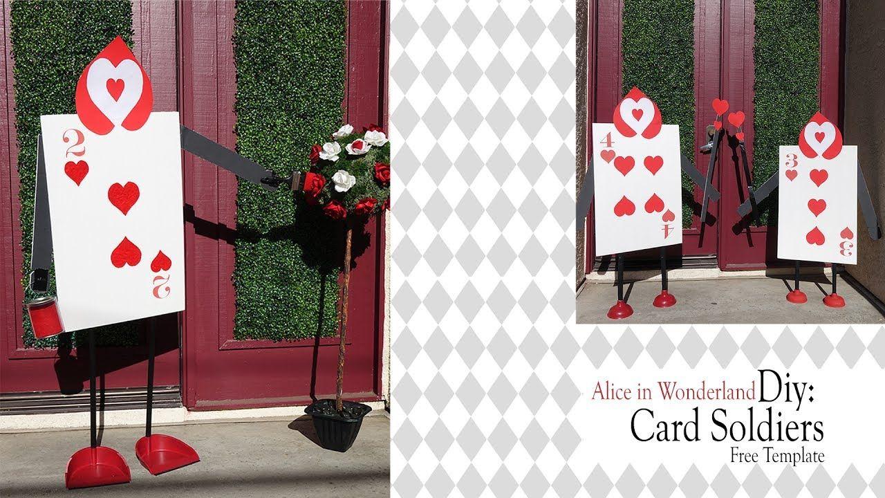 Alice In Wonderland Diy Queen Of Heart Card Soldiers Youtube Alice In Wonderland Diy Queen Of Hearts Card Alice In Wonderland
