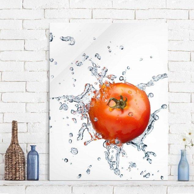Glasbild Küche - Frische #Tomate - Hoch 4:3#Glasbild #Glasbilder ...