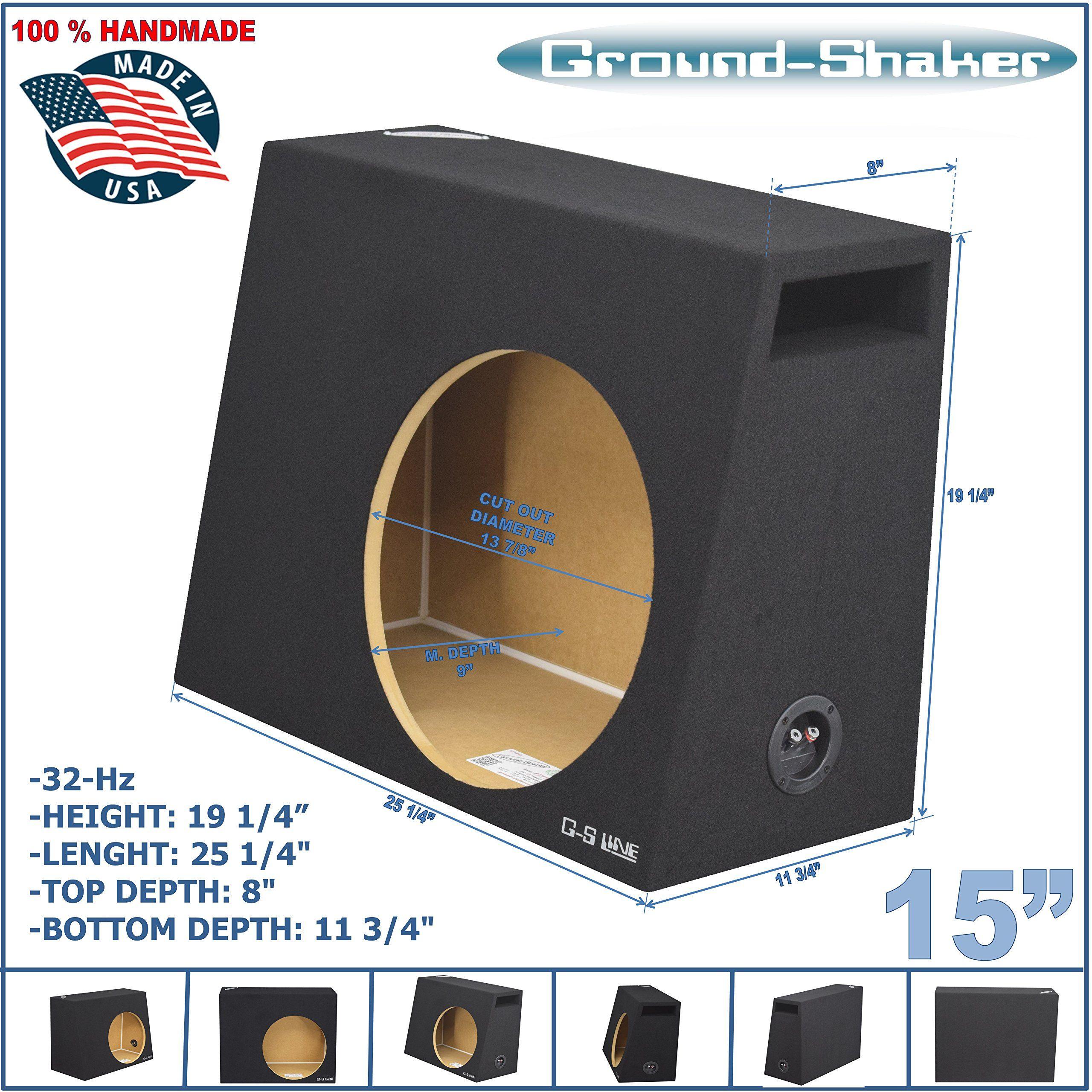 15 Single Vented Sub Box 33 Hz Slot Ported Compact Subwoofer Enclosure Subwoofer Enclosure Sub Box Subwoofer
