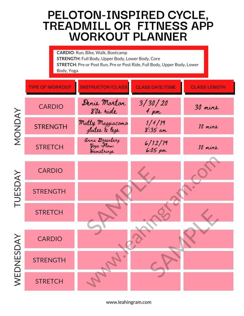 Home Spin Workout Planner Tracker Pdf Printable Schedule Etsy In 2020 Fitness Planner Spinning Workout Planner Tracker