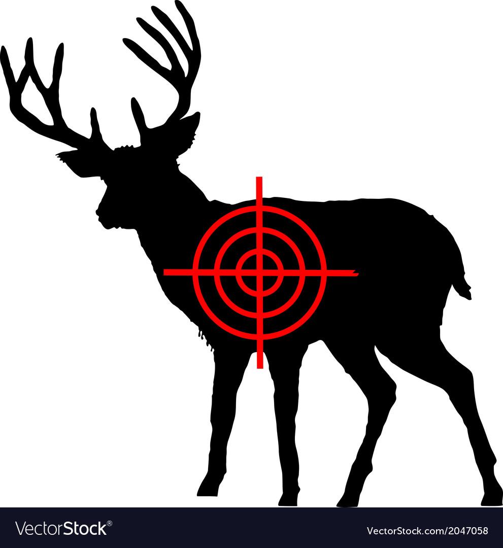 Red Deer Crosshair Vector Image On Vectorstock Vector Red Deer Deer