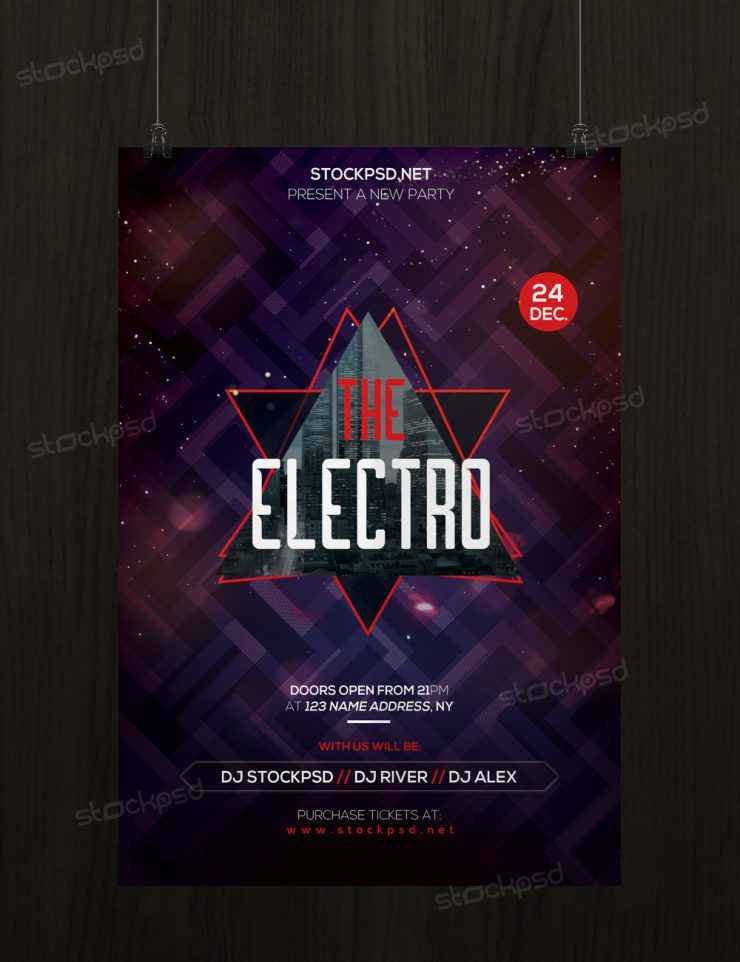 The Electro - Download Free PSD Flyer Template - Stockpsdnet - electro flyer