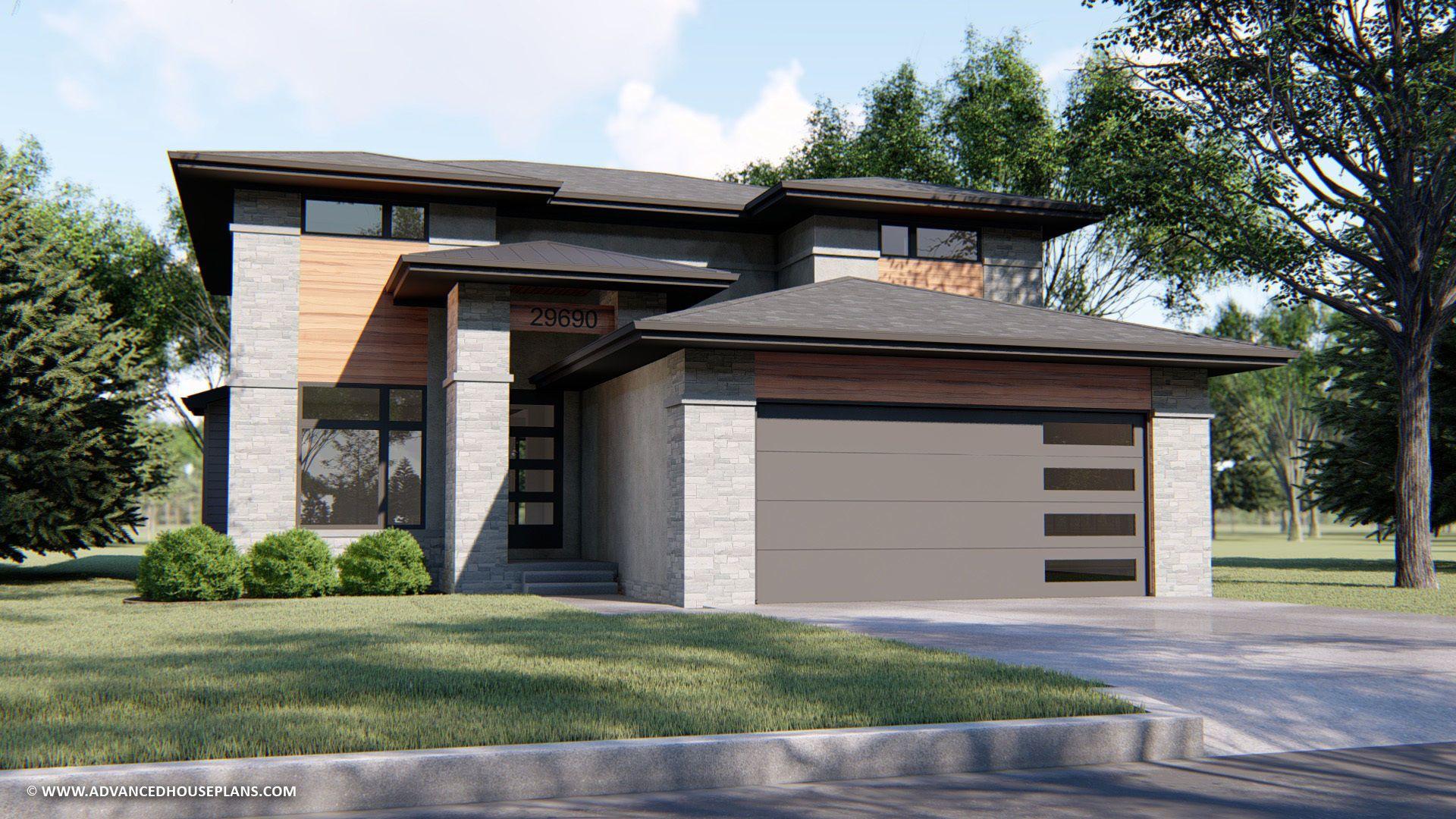 2 Story Modern Prairie Style House Plan Watkins In 2020