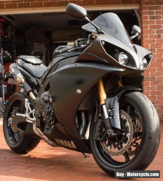 Yamaha 2009 R1 Black 1000 Super Sport Road Bike Big Bang Cross Fire #yamaha  #
