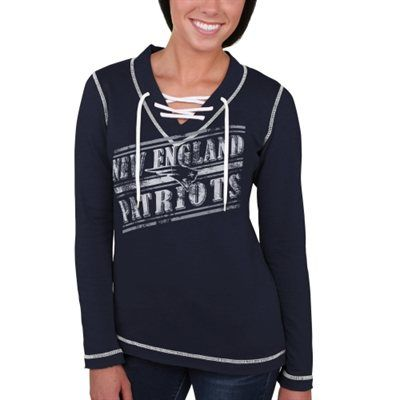 60e674a9 Women's New England Patriots Majestic Navy Blue Overtime Queen V ...