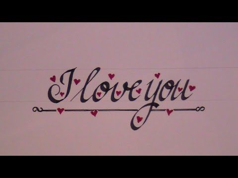Cursive letters how to write cursive letters i love you for