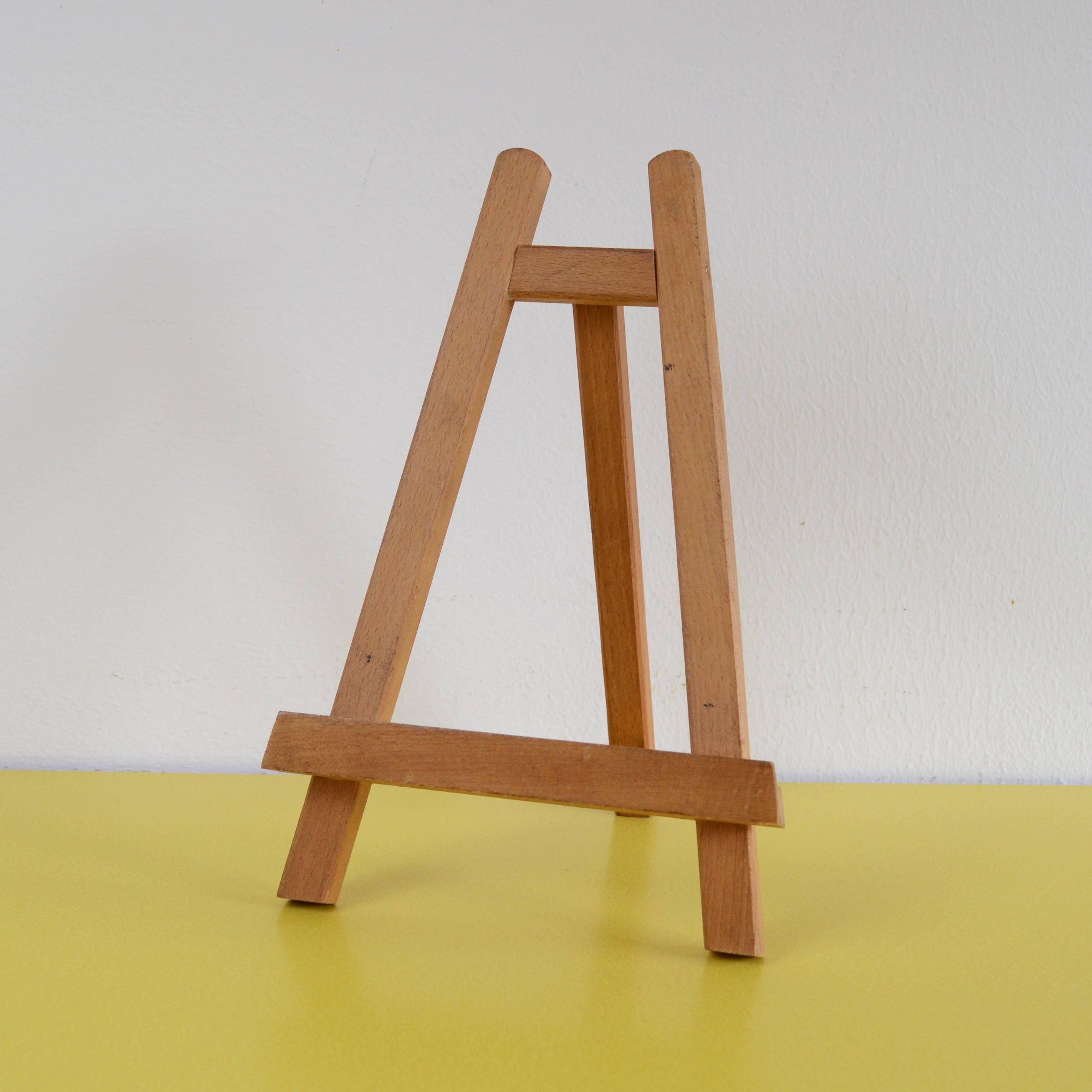 Vintage Wooden Easel Wood Artists Easel Miniature Easel Small