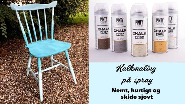 Fantastisk Umbra malet stol - malet med kalkmaling, en spraymaling til træ MG56