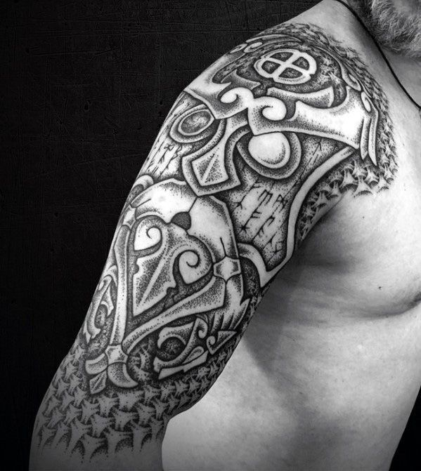 Half Sleeve Norse Viking Mens Manly Great Tattoo Designs ...