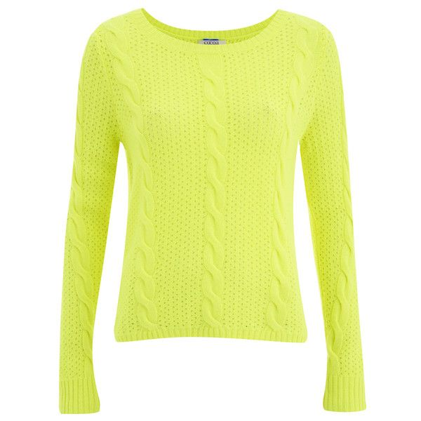 Cocoa Cashmere Women's Neon Jumper ($175) ❤ liked on Polyvore ...