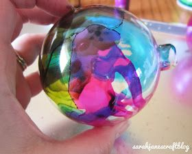 Alcohol Ink Glass Ornaments #alcoholinkcrafts