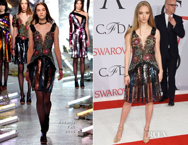 Amanda Seyfried In Rodarte - 2015 CFDA Fashion Awards