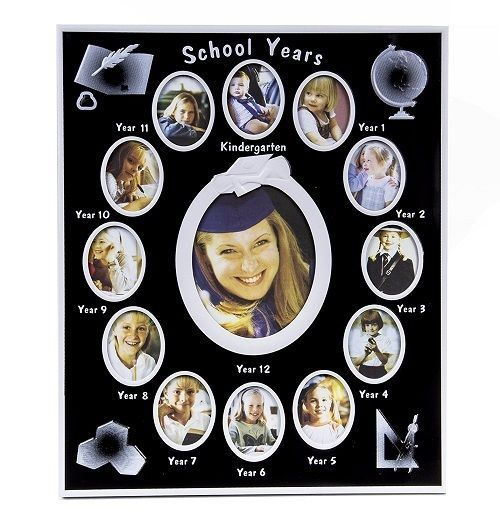 """Silver Plated Graduation Gift Photo Holder Keepsake Present Picture Frame 8x10/"""""""