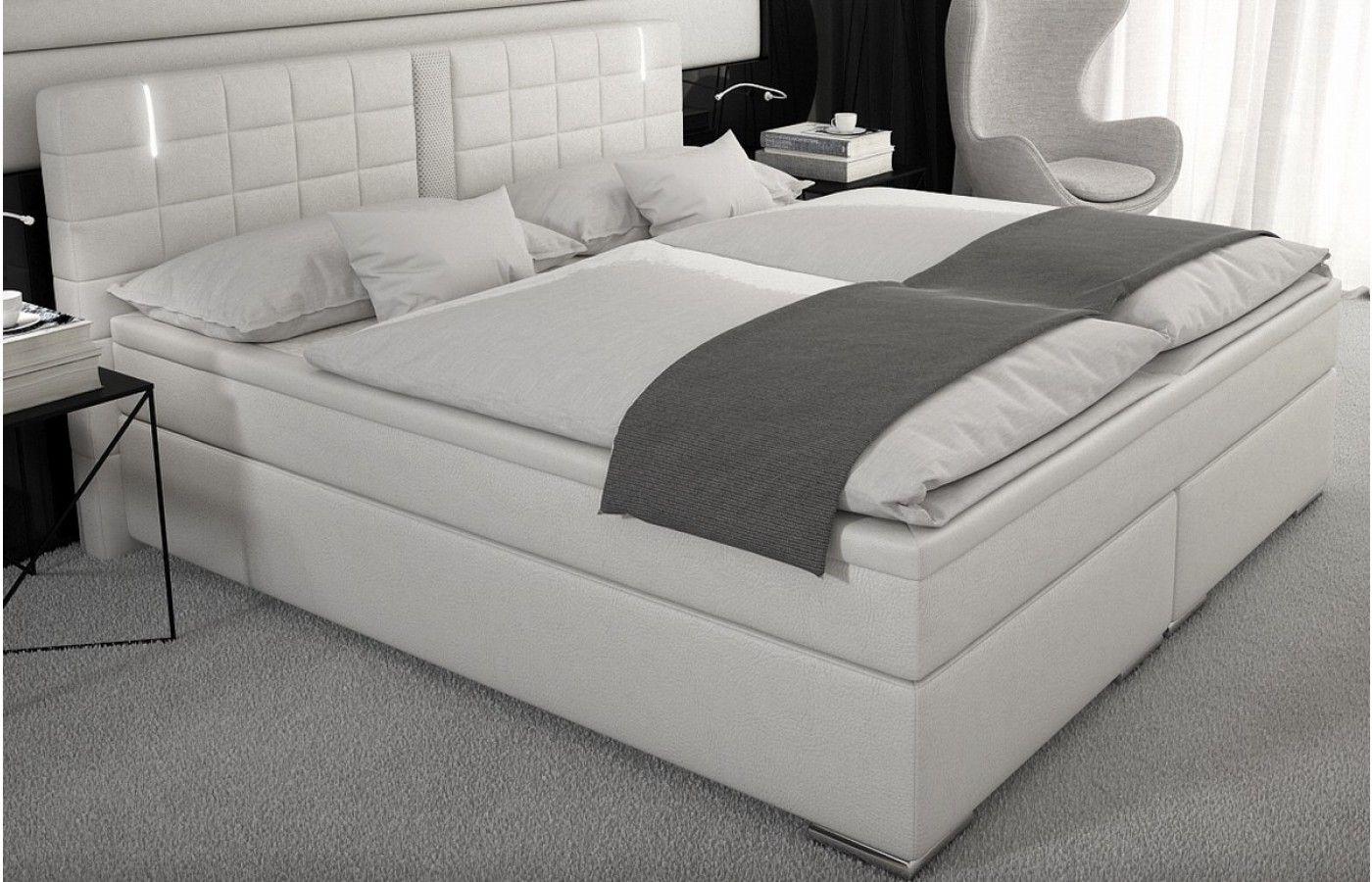 Best  Design Boxspring Bett mit rundum LED Beleuchtung Exklusiv auf Sofas