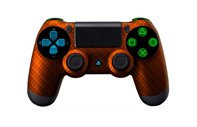 PS4Controller-OrangeSilverCarbonFiber   Flickr - Photo Sharing! #PS4controller #PS4 #PlayStation4controller #customcontroller #moddedcontroller #dualshock4