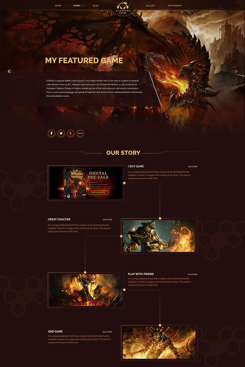 Gamepro - Fantastic Blog PSD Template for GAME SITES PSD Template Gamepro - Fantastic Blog PSD Template for GAME SITES PSD Template
