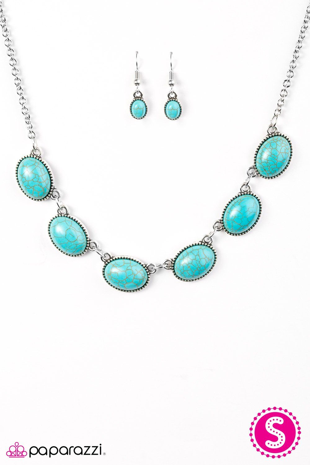 River Song Turquoise And Silver Necklace And Earrings