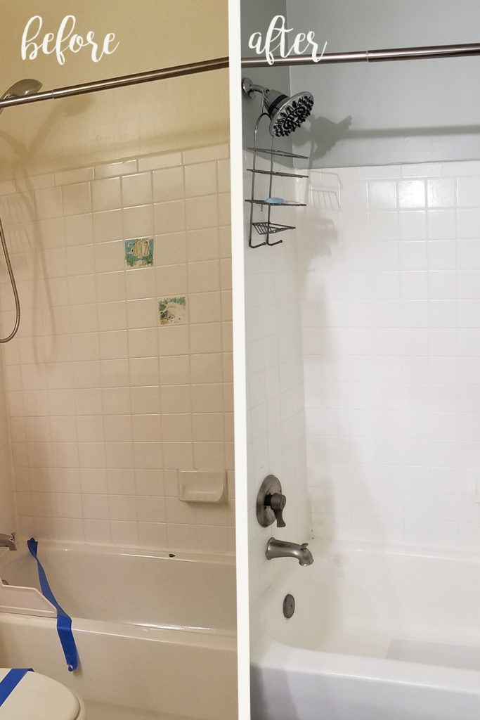 Refinished Bathroom Sink And Shower Tub With Rust Oleum