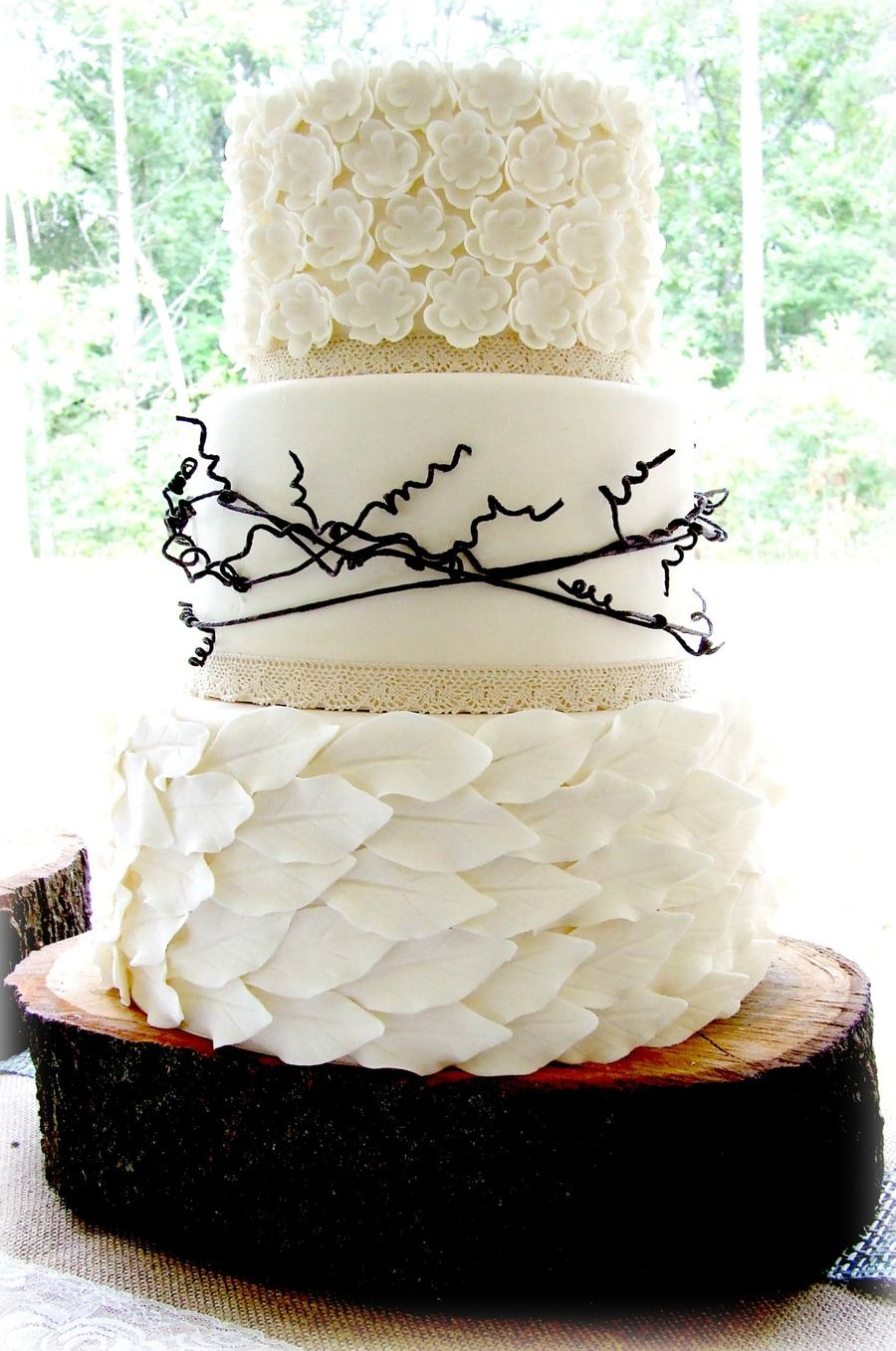 Organic Organic Bride brought a picture of a cake she found and ...