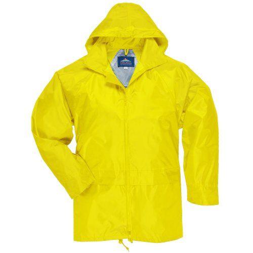 Raincoat Rain For Portwest Men Women Waterproof Coat Black Size XXL Jacket