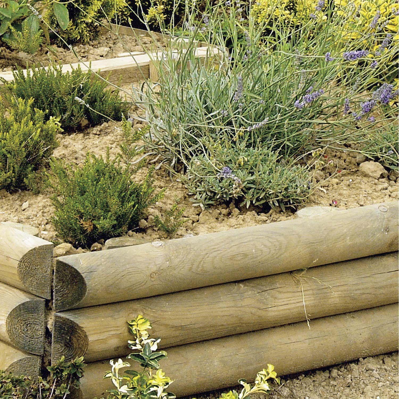 Retenue de terre à planter Sauvage bois naturel, H.60 x L ...