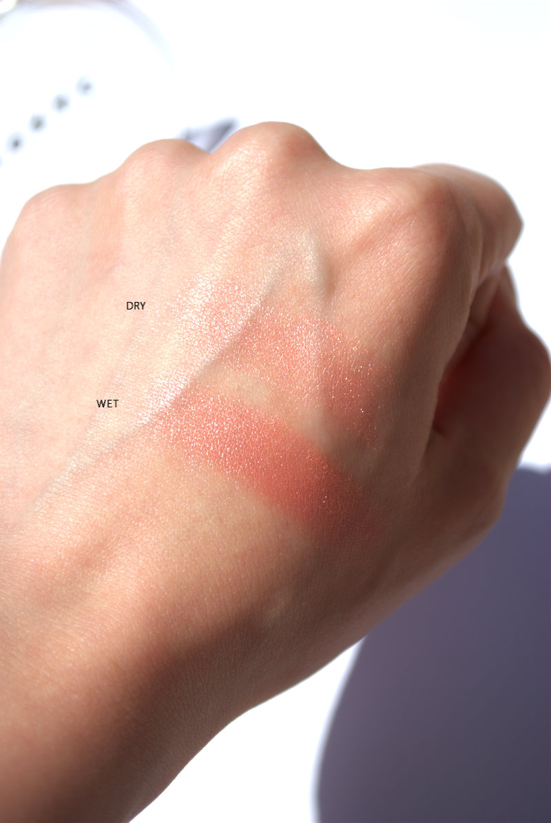 Swatch LORAC's Baked Matte Satin Blush In Exposed With