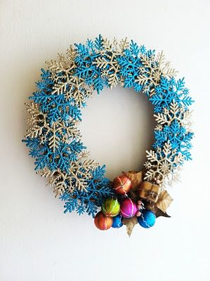 Attractive My Version Of A Popular Better Homes And Gardens Snowflake Wreath.  (upclycled A Sad