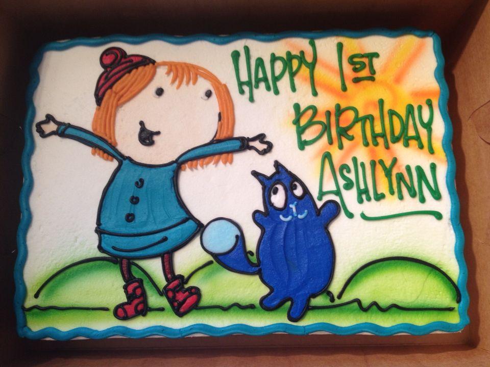 Peg Cat Birthday Cake Ashlynns first birthday Pinterest