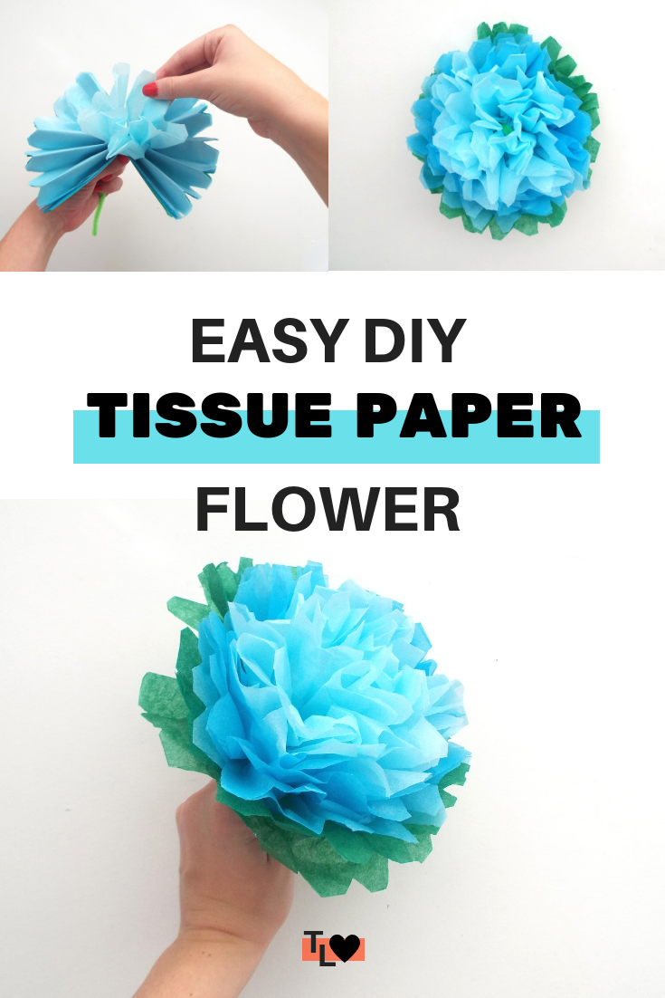 Beautiful DIY tissue paper flowers - Tiger Lily Loves #easypaperflowers