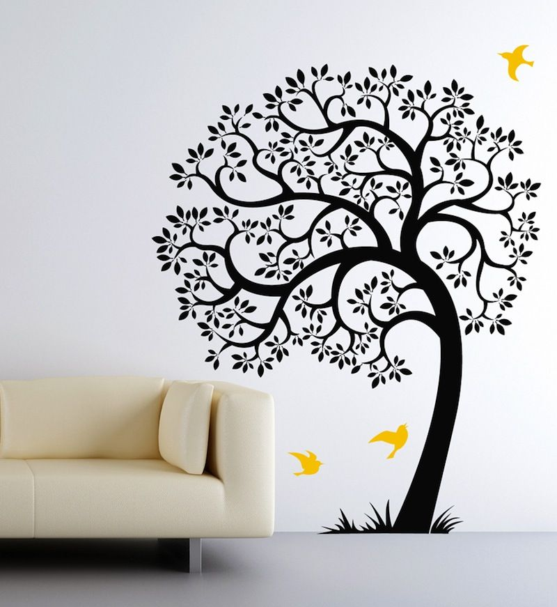 Wall Decal For Nursery Chimney Breast Pinterest Wall Decals - How to put up a tree wall decal