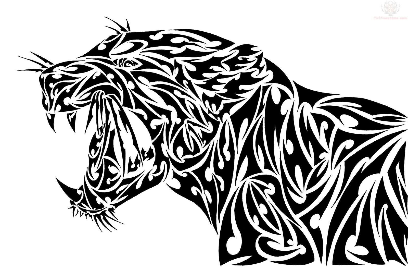 Tribal Jaguar Tattoos Page 2 Tatuaje De Jaguar Tatuajes De Animales Arte Tribal