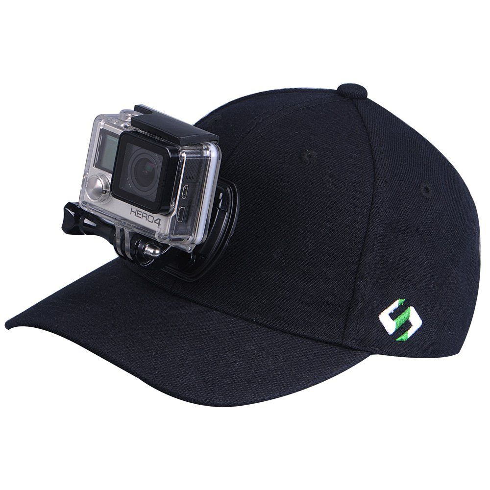 027b47cd Smatree Baseball Hat for GoPro - SmaHat H1 with Quick Release Buckle Mount  for Go Pro Hero 4, Session, 3+, 3, 2, 1