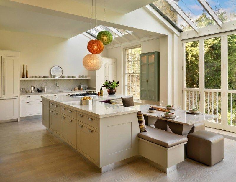 bildergebnis für kücheninsel mit eckbank | küche | pinterest, Esstisch ideennn