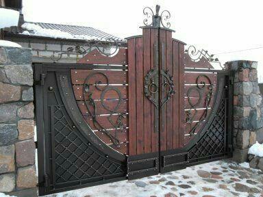 Pin de leo pardo en herrer a y balconeria en 2019 for Puertas de madera y hierro antiguas