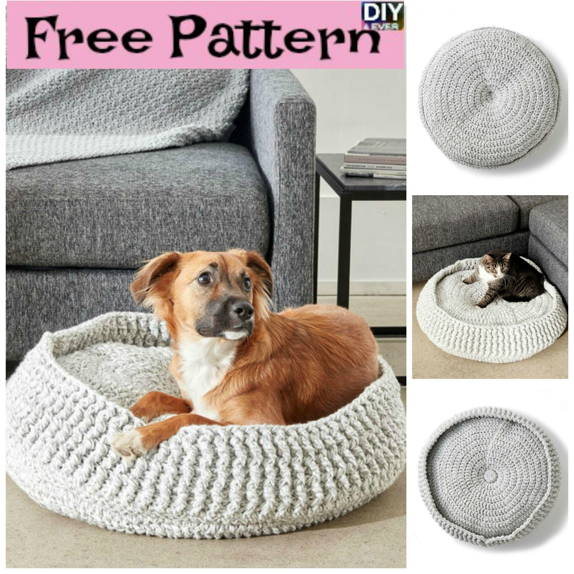 Cozy Crochet Pet Bed - Free Patterns | Crochet pet, Pet beds and ...