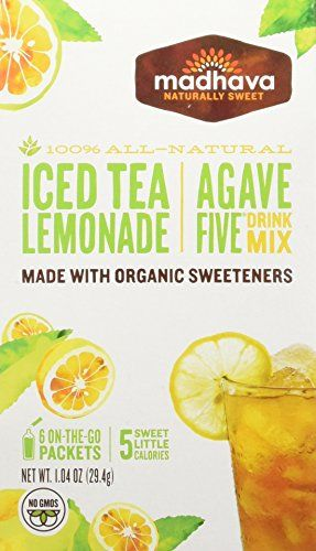 Madhava Gluten Free Agavefive Iced Tea Drink Mix Lemonade Pack Of 6 Click On The Image For Additional Iced Tea Lemonade Organic Sweetener Mixed Drinks