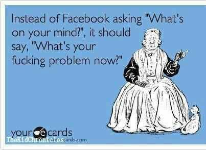LOL...I'll remember this the next time I post something on Facebook! Hehe!