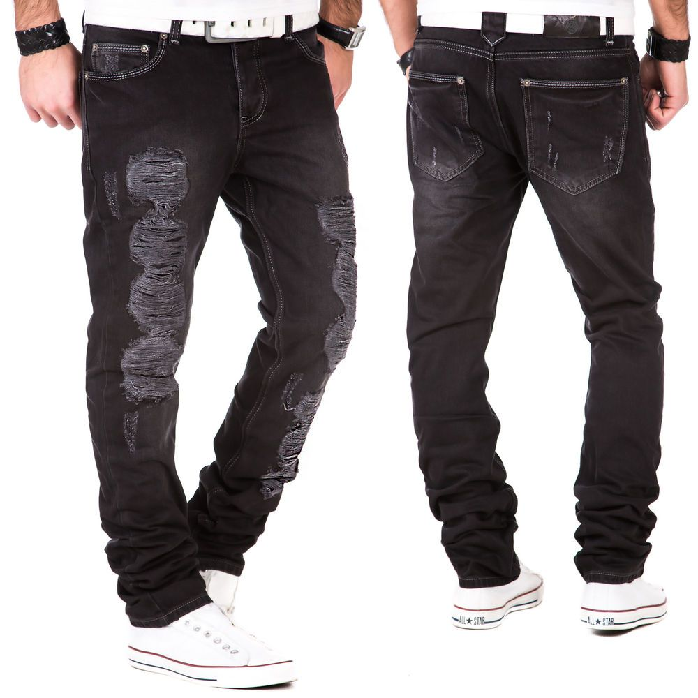 Herren Jeans Hose Denim Destroyed Clubwear Vintage Kosmo Japan Style Look  Fit 364db55c6d